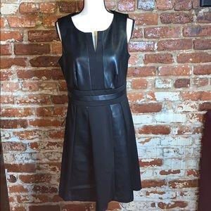 Worthington Faux Leather sleeveless dress US10